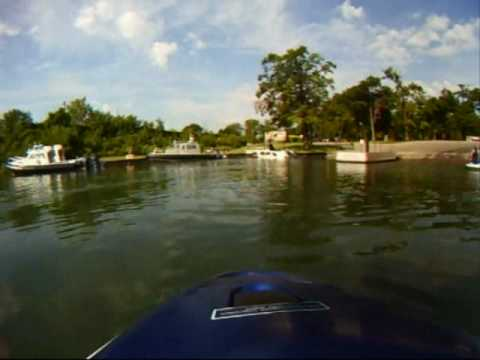Detroit river jet ski ride.
