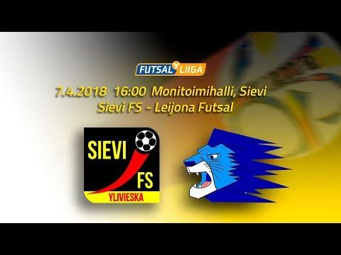 7.4.2018 Sievi FS - Leijona Futsal  klo 16.00 Futsal Liiga
