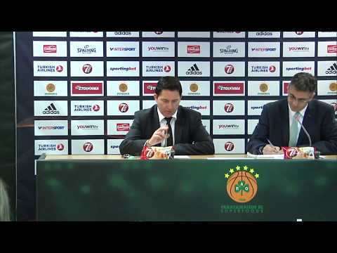 Euroleague Post - Game Press Conference: Panathinaikos Superfoods vs Unicaja Malaga