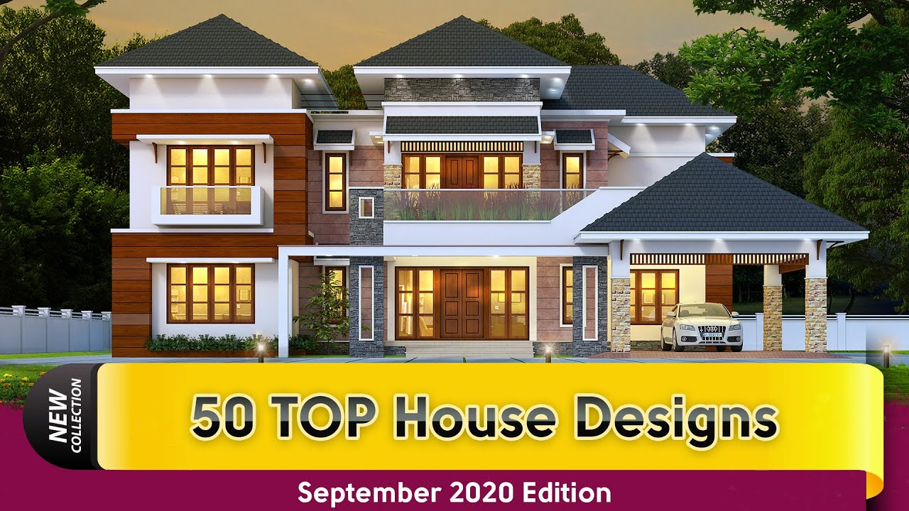 Best 50 House Plans Of September 2020 Kerala Home Design Youtube