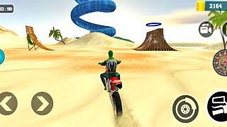 Dirt Motocross Spider Bike Beach Racing Stunt | Superhero Bike Games | Bike Games