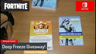 December Giveaway - Fortnite Deep Freeze Bundle - Nintendo Switch