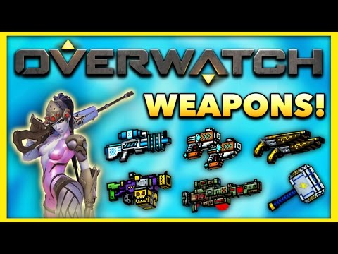 Pixel Gun 3D - Overwatch Weapon Gameplay!
