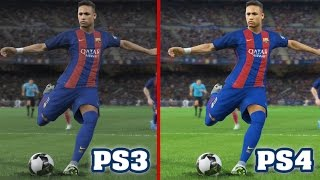 PES 2017 - PS3 vs PS4 Graphics and Gameplay Comparison