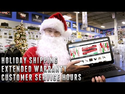 Holiday Shipping Schedule, Warranty, and Extended Customer Service Hours