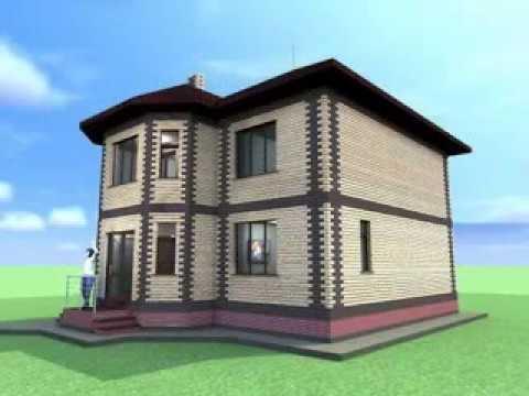 Компактный 2-х этажный каменный дом 129 м2 с эркером