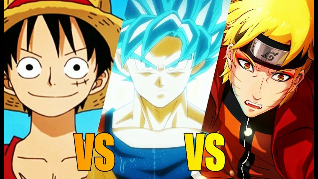 Dragon ball vs one piece vs naruto youtube - Dragon ball one piece ...