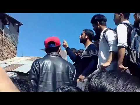 Protest in Bhaderwah College Against Jammu University About Sem 1st latest result 2017
