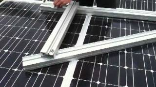 True Solar Time Multi Purpose Rail Constructed as a solar frame Part 5