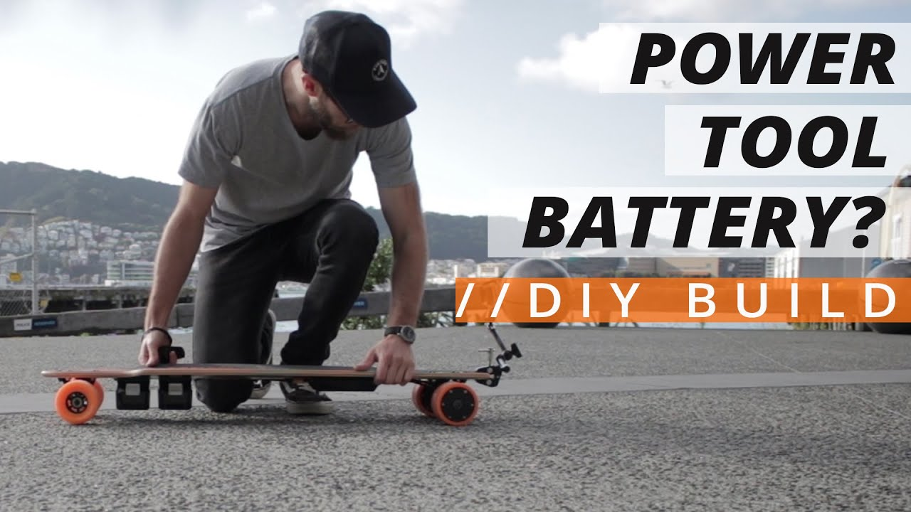 Power Tool Batteries for Electric Bikes, Scooters and Skateboards?  // DIY Build