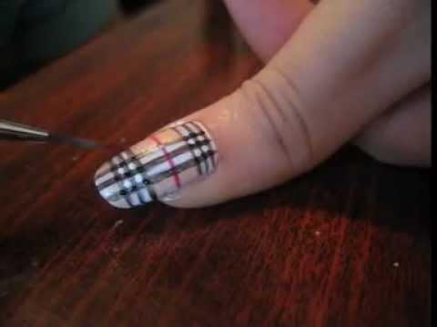 nail art burberry nails tutorial