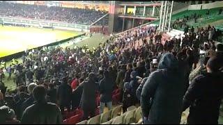 Столкновения между болельщиками Ахмата и Зенита в Грозном видео