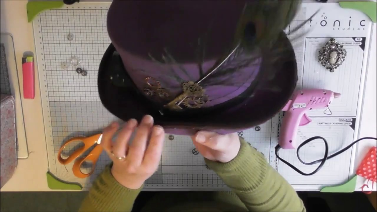 How To Decorate Top Hat Steampunk Style Youtube