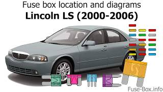 fuse box location and diagrams: lincoln ls (2000-2006) - youtube  youtube
