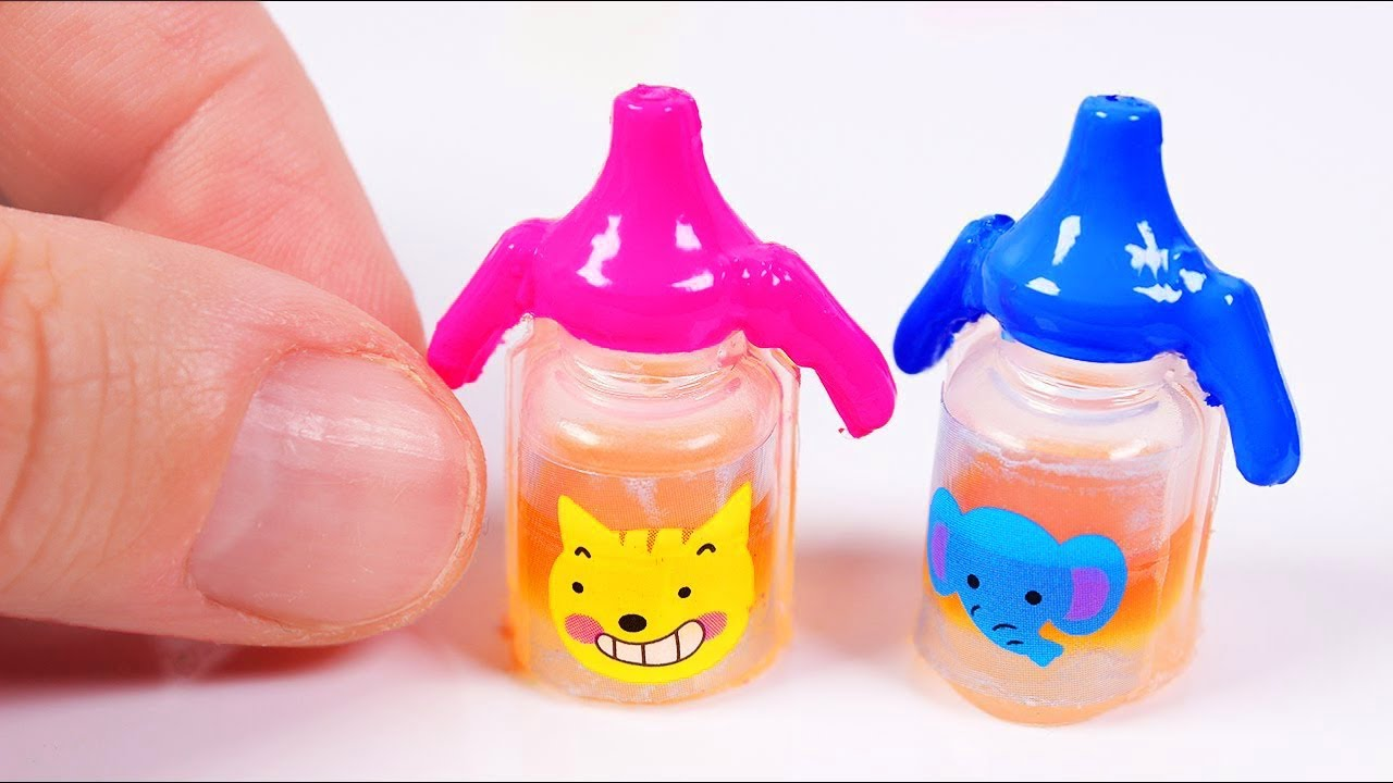 Diy Miniature Baby Sippy Cup Really Works Youtube