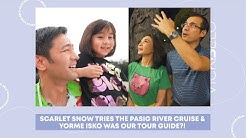 SCARLET SNOW TRIES THE PASIG RIVER CRUISE & YORME ISKO WAS OUR TOUR GUIDE?! | Vicki Belo Vlog