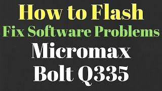 Micromax Q335 Software Update