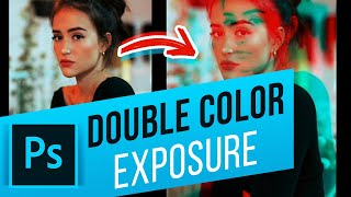 How to Create a Double Color Exposure in Photoshop | Double Color Exposure Photoshop Action