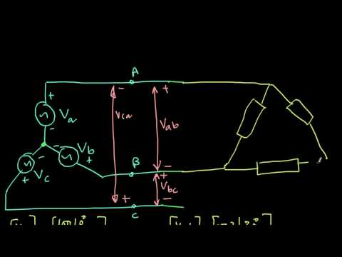 Star source with delta load 3 phase circuit