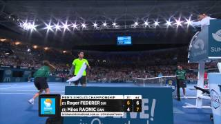 Brisbane 2015 Final Highlights Federer Raonic