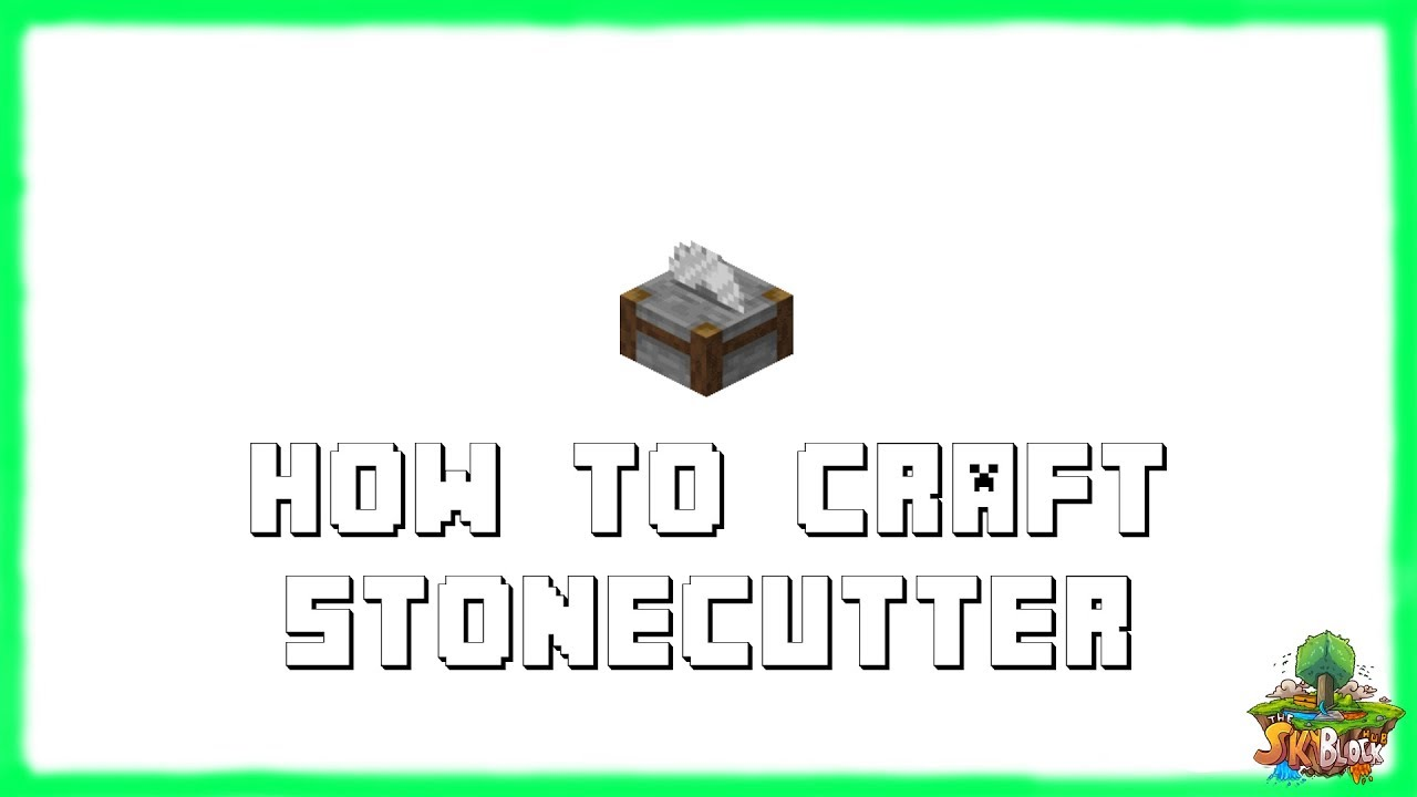 ✔ Minecraft 11.111.11: How to Craft Stonecutter! (111)