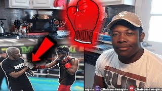 KSI SPARRING AND TRAINING WITH FLOYD MAYWEATHER SENIOR (Reaction)