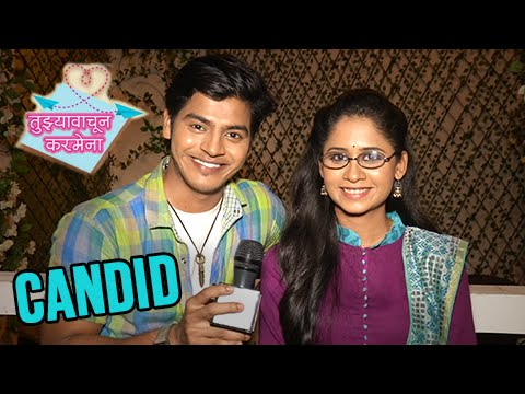 Candid Chat On Sets Of Tujhya Vachun Karmena | Radha & Siddharth | Colors Marathi Serial
