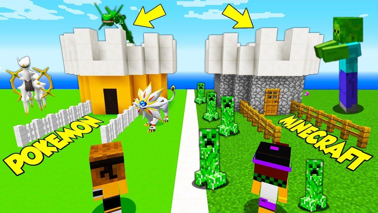 CASTELLO DEI POKEMON vs CASTELLO DI MINECRAFT! - Minecraft ...