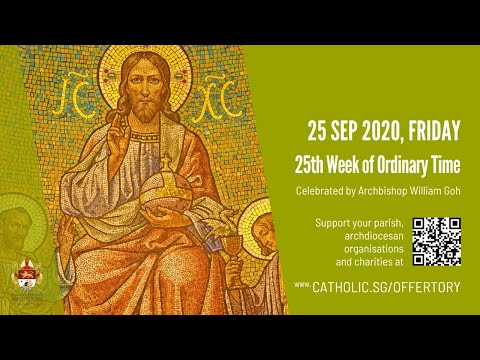 Catholic Weekday Mass Today Online - Friday, 25th Week of Ordinary Time
