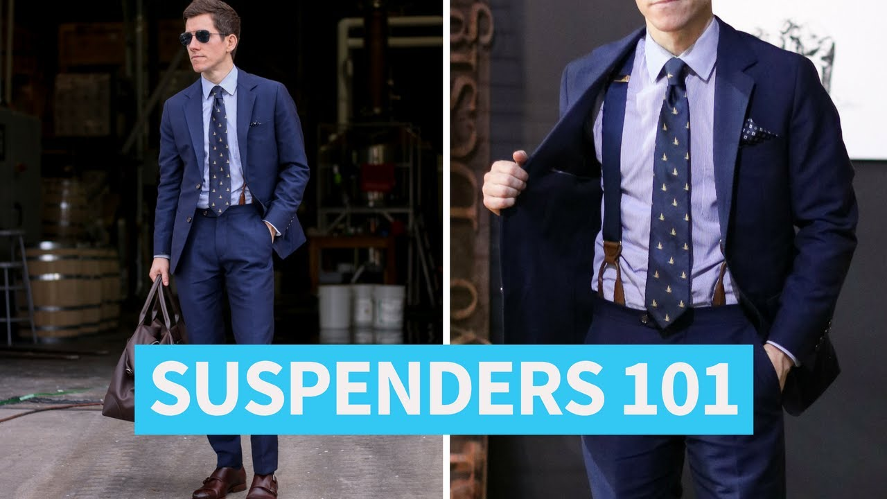 How to suspenders wear casually images