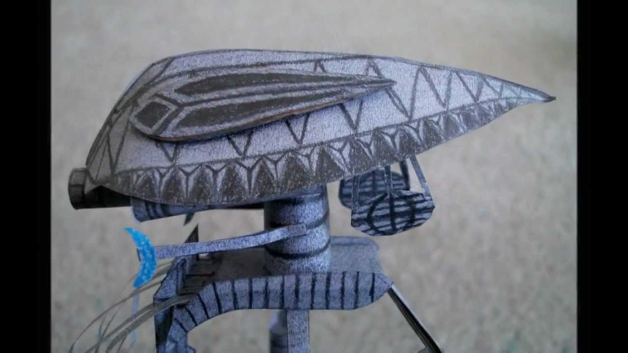 Papercraft Paper Model of a Tripod from the Movie