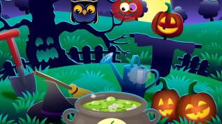 Funny Foods: Halloween fun! Learning game for kids