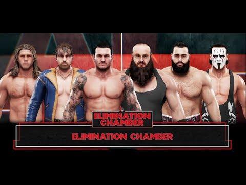 WWE-2K19- 6 Men Elimination Chamber Match- -WWE-2K19-Gameplay