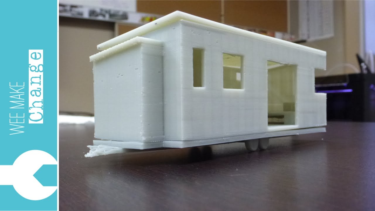 3d print tiny house youtube for 3d printed model house