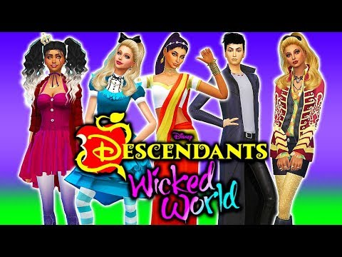🔥CREATING THE DESCENDANTS WICKED WORLD CHARACTERS!😈 Descendants 3 Sims 4 | Create a Sim