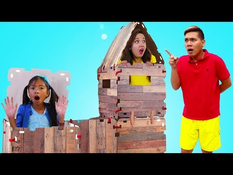 Wendy Pretend Play Best Hide and Seek Spot Kids Game w/ Giant Box Fort Toy