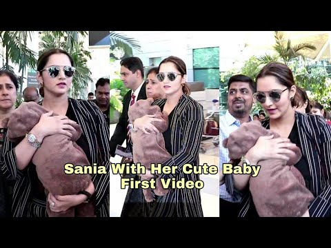 Sania Mirza's CUTE Baby Izhaan FIRST VIDEO | Mumbai Airport