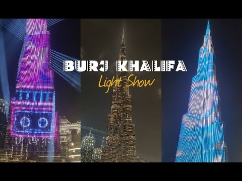 DUBAI BURJ KHALIFA AMAZING LIGHT SHOW | TRAVEL VISIT DUBAI IN 4K | BURJ KHALIFA BUILDING |MD TOURS
