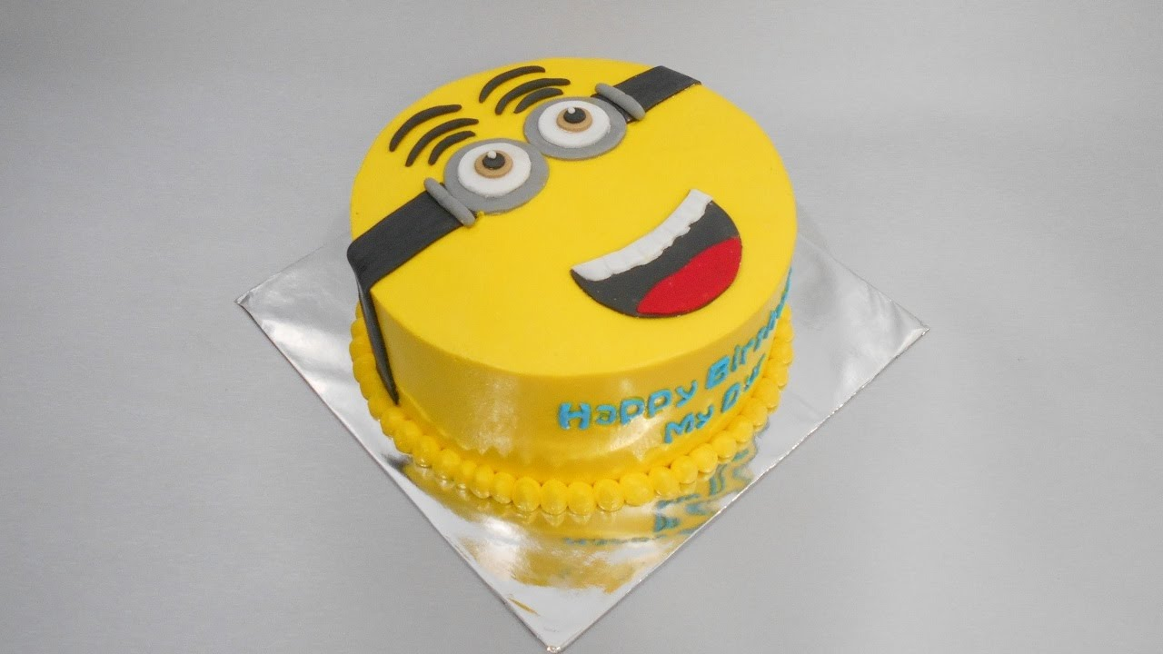 Minion Cake Tutorial Simple YouTube