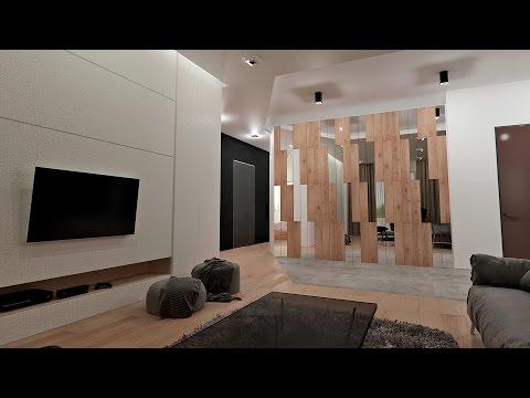 Дизайн интерьера 3-х комнатной квартиры в стиле минимализм.