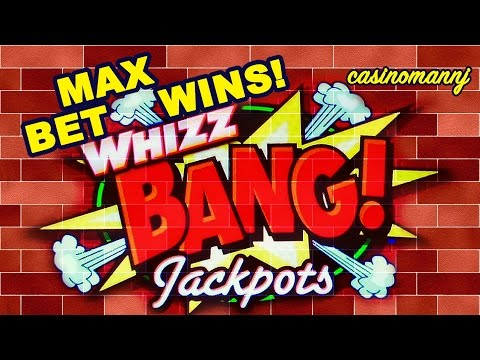 WHIZ BANG JACKPOTS SLOT - MAX BET! - Nice Win - Slot Machine Bonus - 동영상