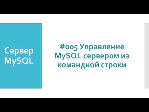 Как войти в mysql через консоль