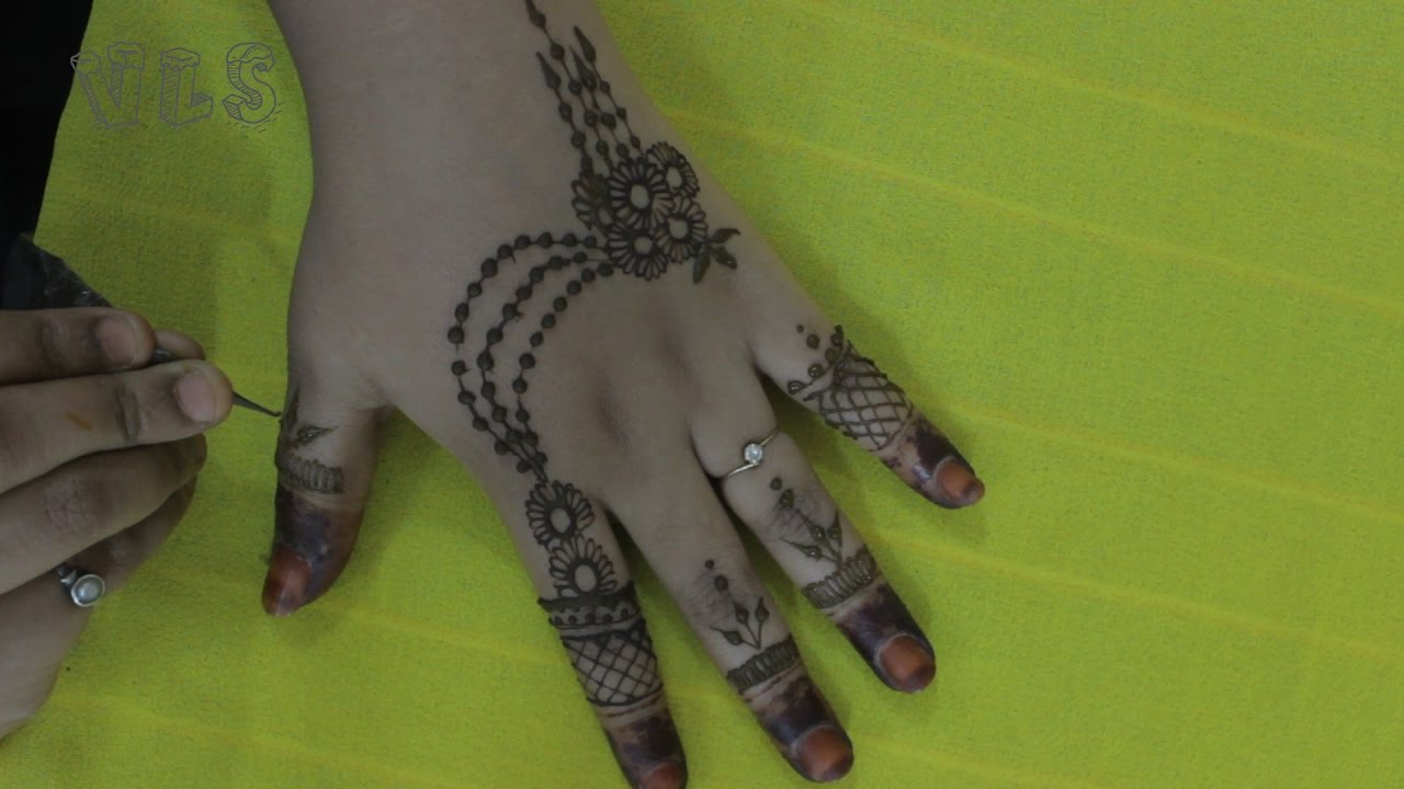 Mehndi Designs For Fingers Step By Step : Finger mehndi design simple and easy steps how to do