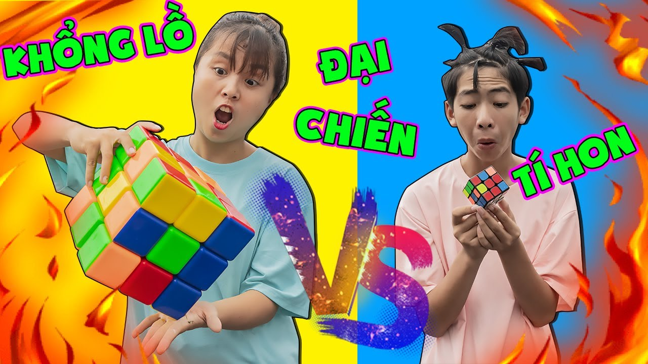 Download Rubik Khổng Lồ 500k Vs Rubik Tí Hon 5k - Người Bạn Tốt Bụng ❤ KN CHENO Chị Hằng