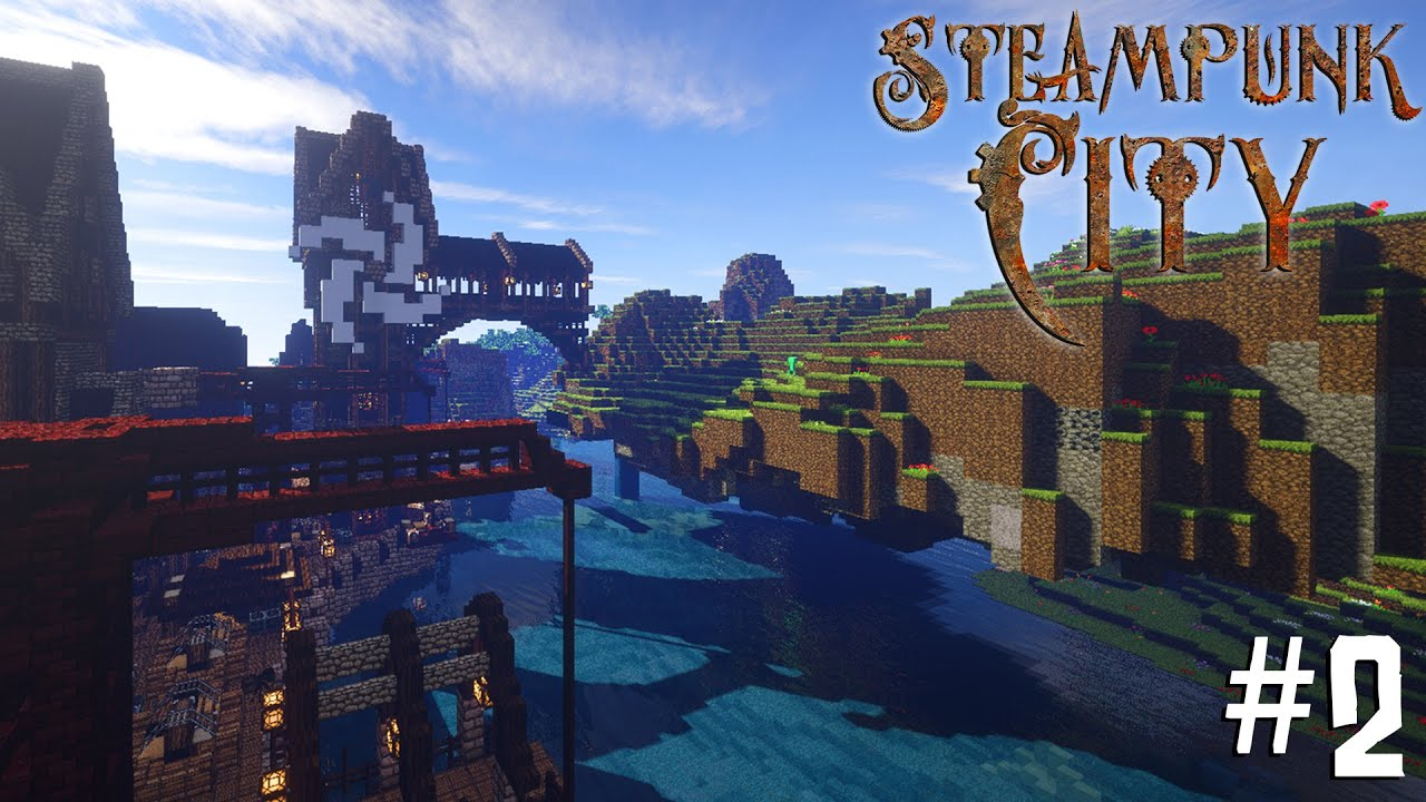 Minecraft Steampunk City - Let's Build It! #2 [Industry ...