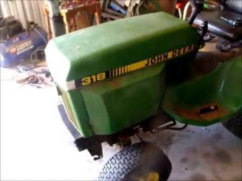 Predator 670cc 22HP V-Twin Engine on my 318 John Deere - YouTube