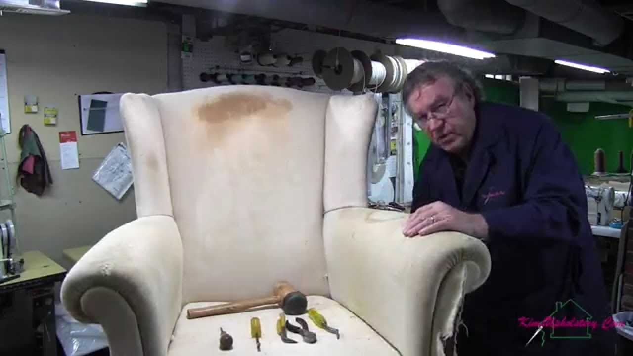 Wingback Chair Teardown. Kimu0027s Upholstery  sc 1 st  YouTube & Wingback Chair Teardown - YouTube
