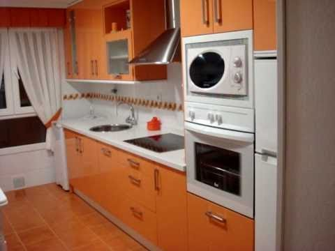 Cocina GLASS Naranja y blanco - YouTube