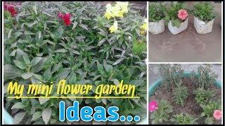 My Mini Flower Garden How To Make Small Flower Garden Youtube