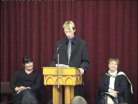 Josh Freeman head boy speech